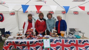 WI Tent at Bredon Marina on a very wet day for the Diamond Jubilee!  2012